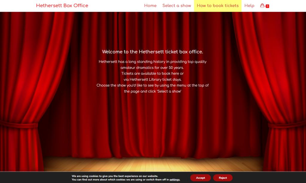 hethersett box office landing page image