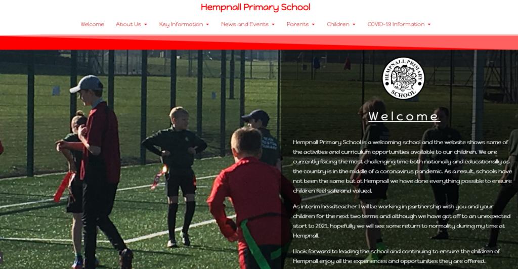 Hempnall website example