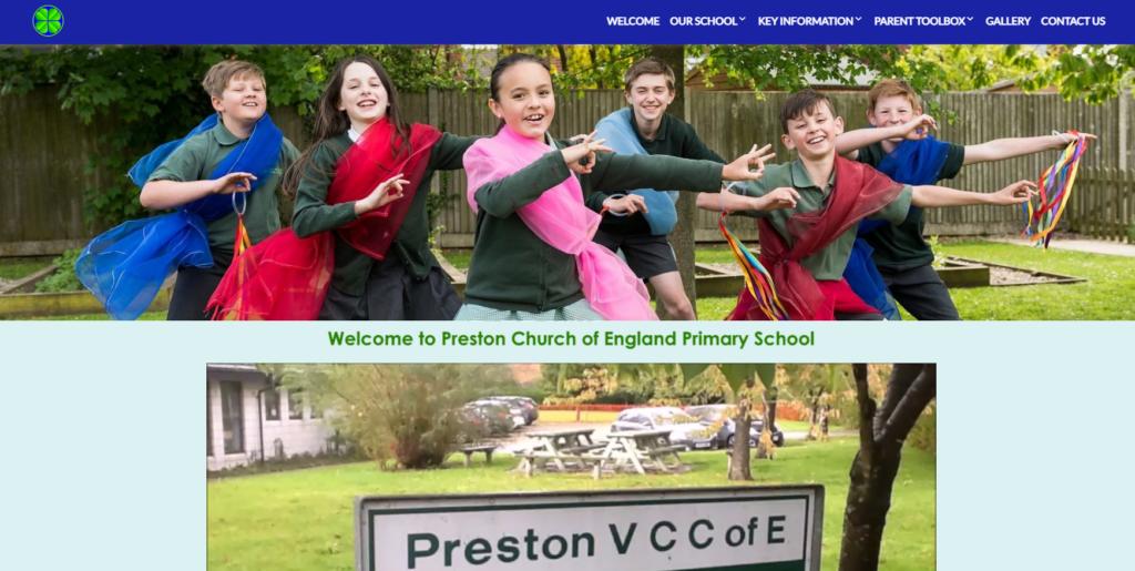 Preston website example