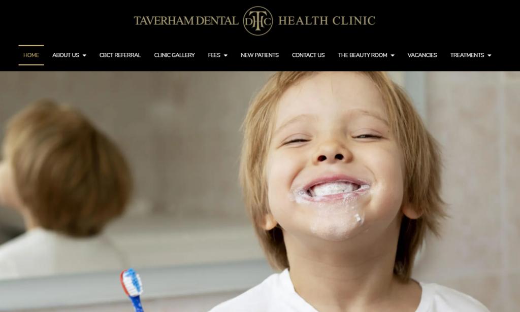 Taverham Dentist website example